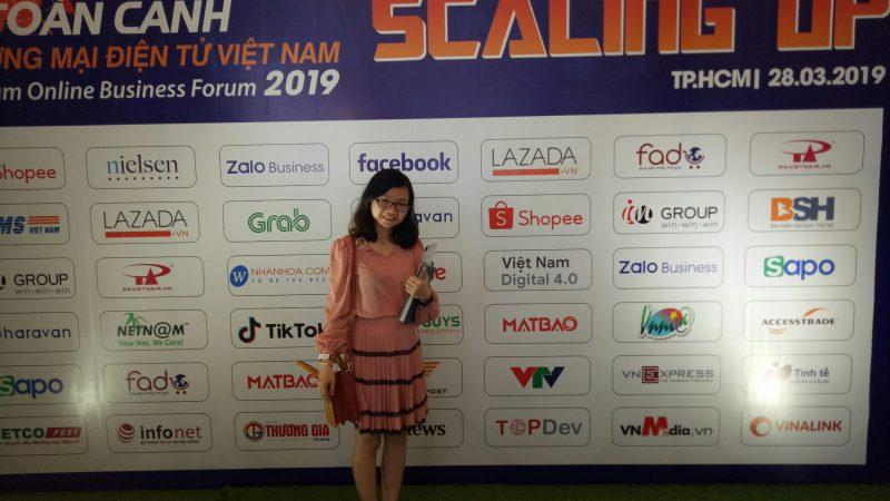 Chị Đặng Thị Như Hà - giám đốc công ty TNHH Dagiaco tham gia chương trình toàn cảnh thương mại điện tử Việt Nam 2019