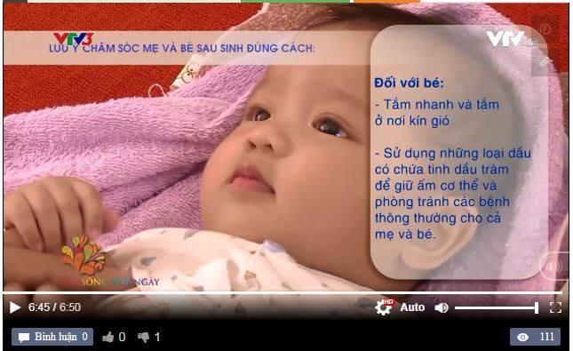 Truyền thông khuyên dùng tinh dầu tràm cho bé