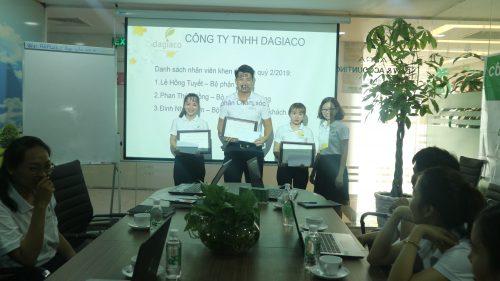 Công ty Dagiaco khen thưởng nhân viên quý 2/2019