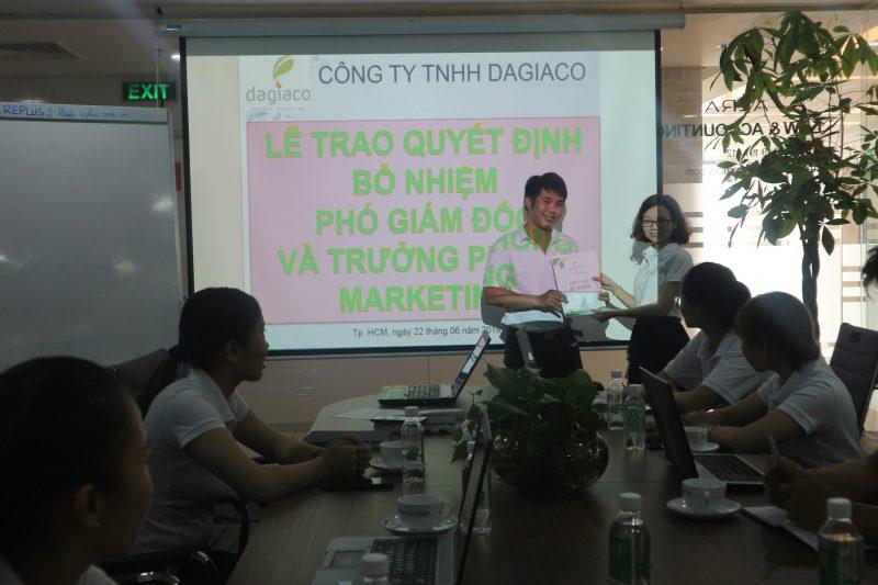 Lễ trao quyết định bổ nhiệm phó giám đốc và trưởng phòng kinh doanh công ty Dagiaco