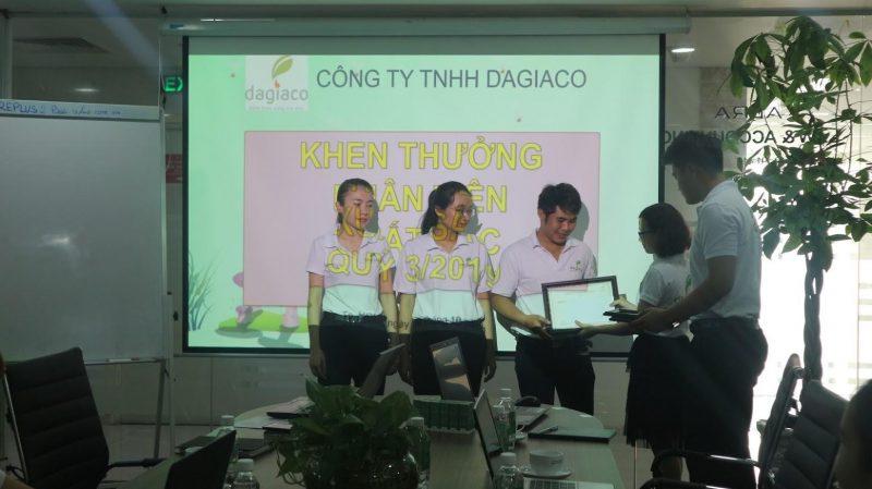 Công ty Dagiaco khen thưởng nhân viên