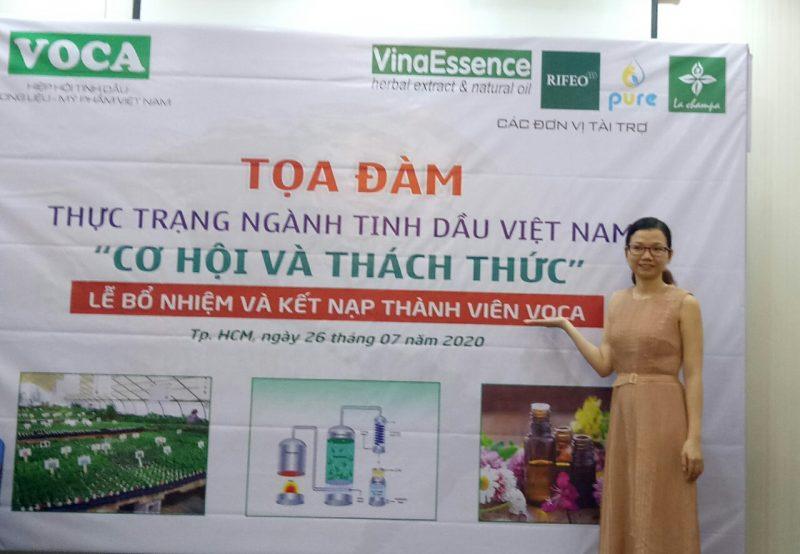 Bà Đặng Thị Như Hà - giám đốc công ty Dagiaco - tham gia tọa đàm Voca